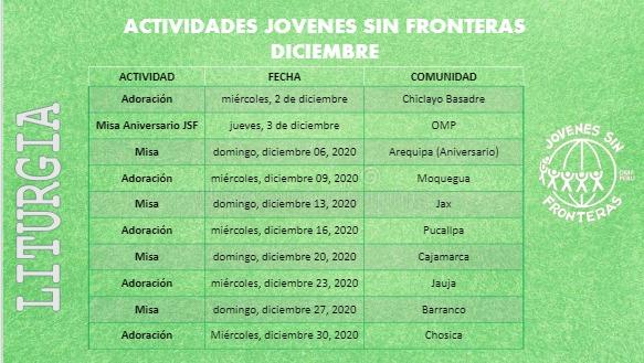 ACTIVIDADES DEL AÑO, JOVENES SIN FRONTERAS